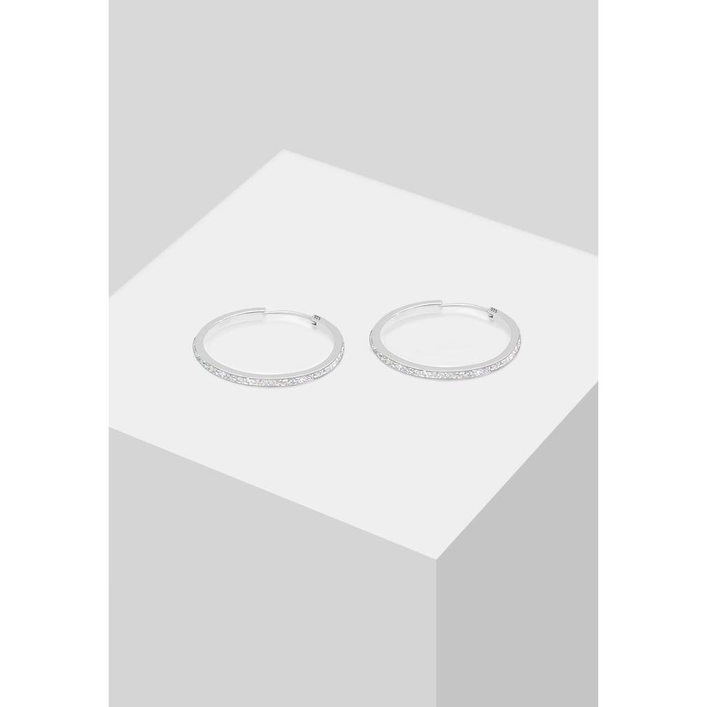 Elli Paar Creolen »Creolen mit funkelnden Emaille Lack«
