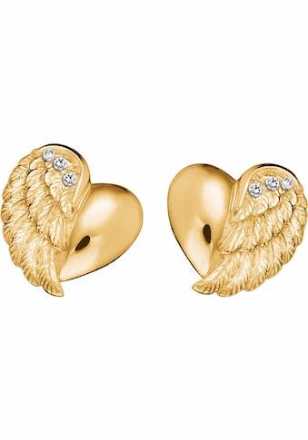 Engelsrufer Paar Ohrstecker »Little magic, OHRSTECKER HERZFLÜGEL ZIRKONIA GOLD PLATED,... kaufen