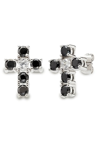 Buffalo Paar Ohrstecker »U0006E/I0/03, Kreuz black & white« kaufen