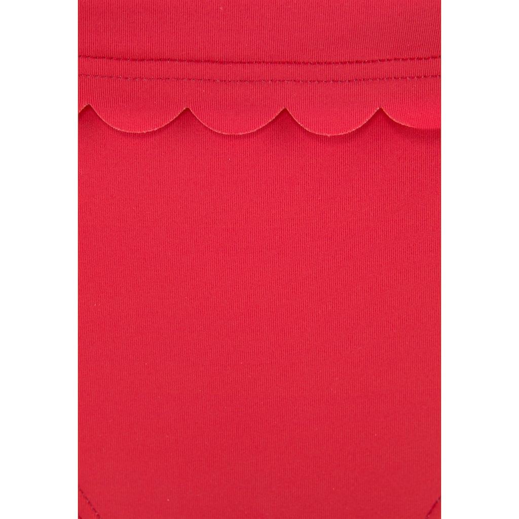 LASCANA Bikini-Hose »Scallop«, mit Umschlagbund