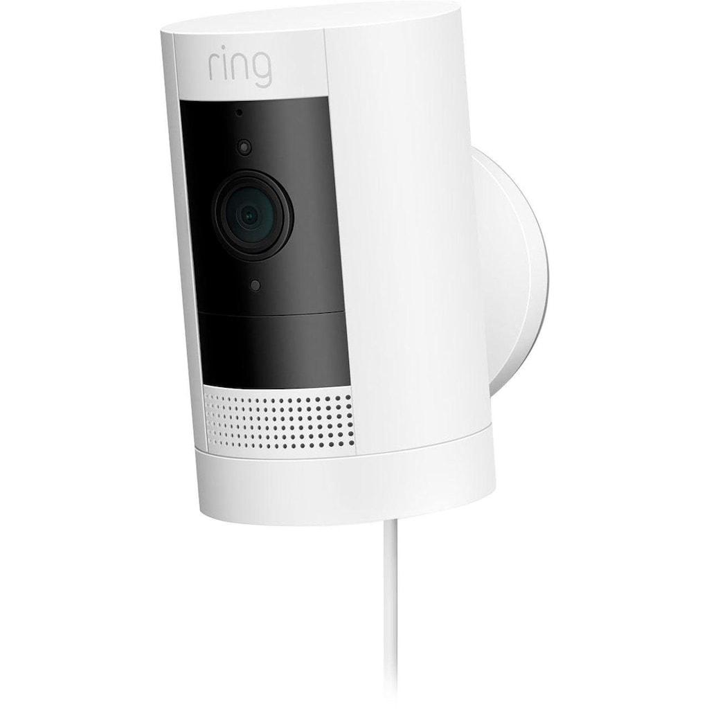 Ring Überwachungskamera »Stick Up Cam Plugin - White - EU«, Innenbereich-Außenbereich