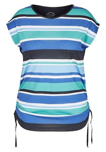 FRAPP Modernes T-Shirt mit Allover-Ringeln kaufen