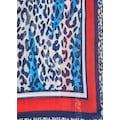 Rabe Schal mit Animal-Print und Kontrastverarbeitung