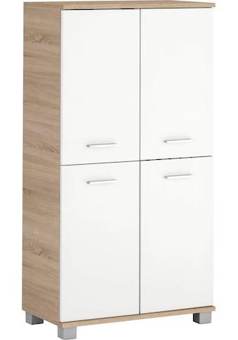 Schildmeyer Midischrank »Lagona«, Breite 59,8 cm, Metallgriffe, verstellbare Einlegeböden, 4 Türen kaufen