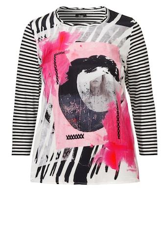 FRAPP Raffiniertes Shirt mit seidiger Print-Front kaufen
