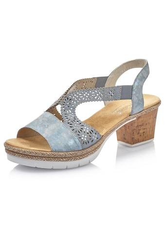 Rieker Sandalette, mit Perforation und Strass-Steine kaufen