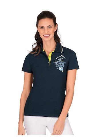 Trigema Poloshirt, aus Baumwolle mit modernem Aufdruck kaufen