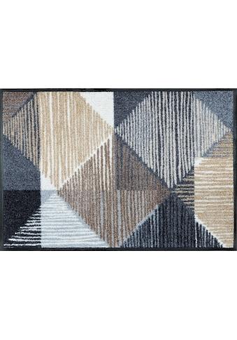 wash+dry by Kleen-Tex Fußmatte »Lines and Boxes«, rechteckig, 7 mm Höhe,... kaufen