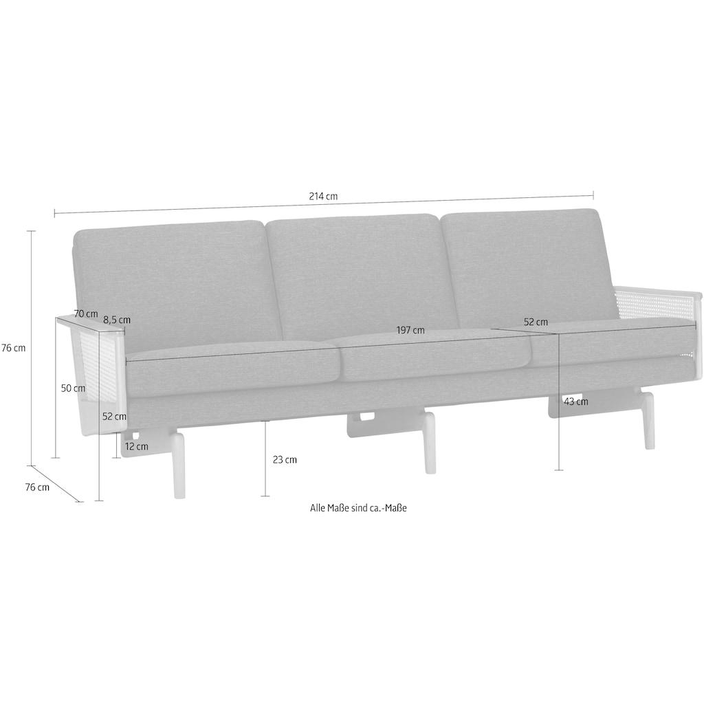KRAGELUND 3-Sitzer »Egsmark«, K202, mit Holzarmlehne