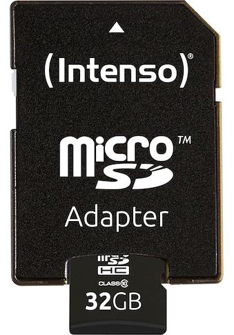 Intenso Speicherkarte »microSDHC Class 10 + SD-Adapter«, ( 20 MB/s Lesegeschwindigkeit) kaufen