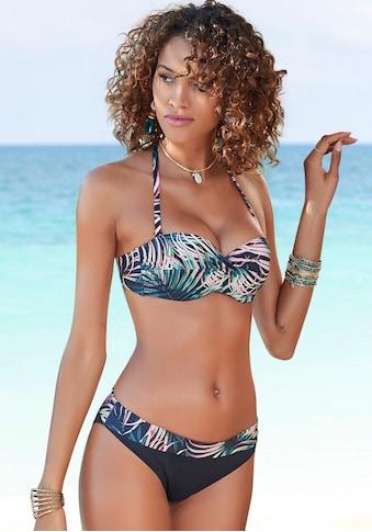 LASCANA Bikini-Hose »Reese«, mit Umschlagbund und Palmendruck kaufen