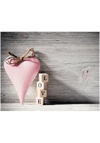 Home affaire Leinwandbild »Heart Love Pink«, 50/40 cm kaufen