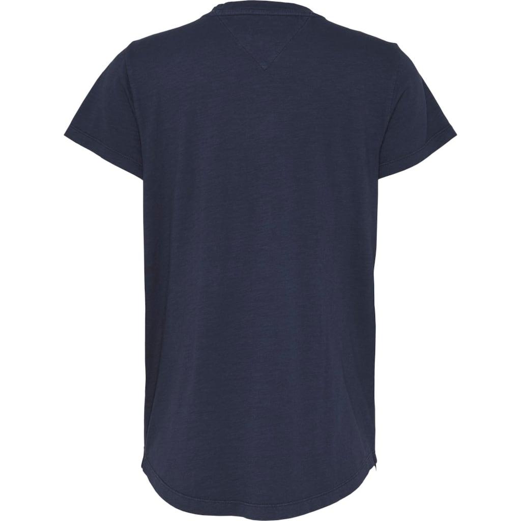 TOMMY JEANS V-Shirt »TJW LOGO SLUB TEE«, mit Tommy Jeans Logo-Schriftzug auf der Brust