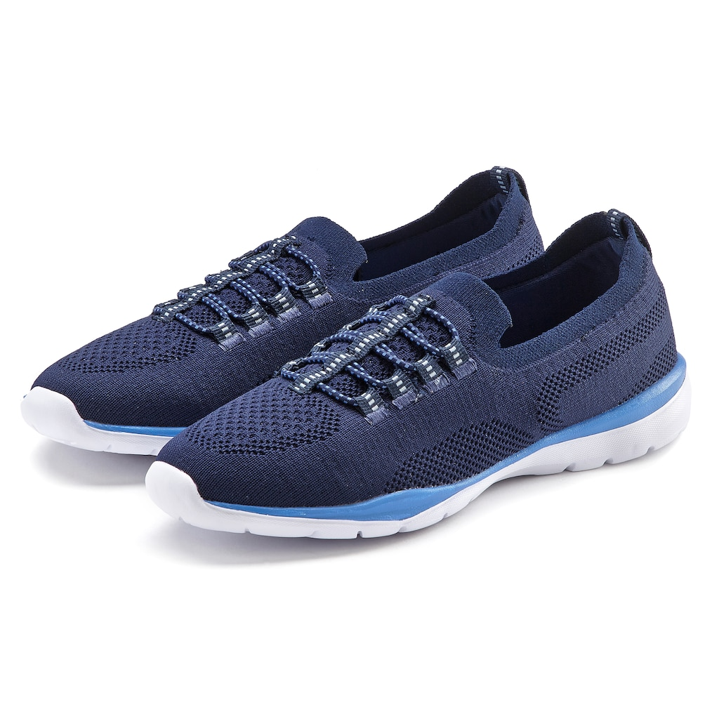 LASCANA Sneaker, Slip In bequem zum Reinschlüpfen aus leichtem Meshmaterial