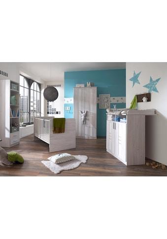 Babyzimmer-Komplettset »Pellworm«, (Set, 3 tlg.), (3 tlg.) Bett + Wickelkommode + 2 trg. Schrank kaufen