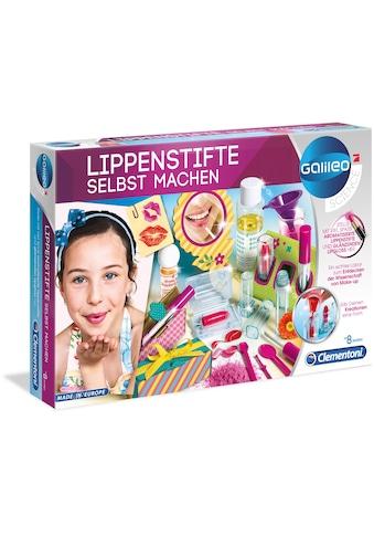Clementoni® Experimentierkasten »Galileo - Lippenstifte selbst machen«, Made in Europe kaufen