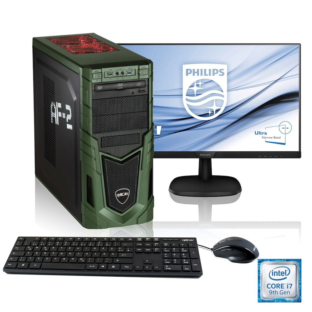 Hyrican Gaming-PC-Komplettsystem »Military Gaming SET1902«