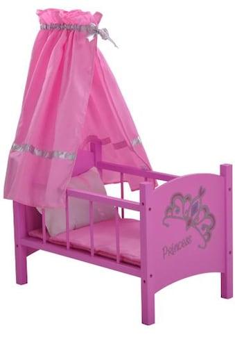 Knorrtoys® Puppenbett »diadem pink« kaufen