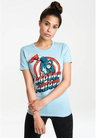 LOGOSHIRT T-Shirt »Captain America«, mit lizenzierten Originaldesign kaufen