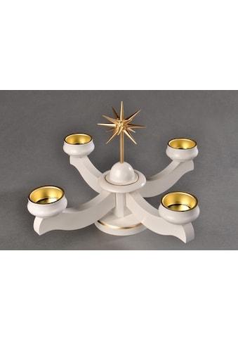 Albin Preissler Adventsleuchter »Weihnachtsstern«, Ø 22 cm, weiß kaufen