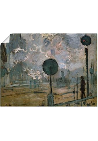 Artland Wandbild »Der Bahnhof Saint-Lazare (Le Signal)«, Gebäude, (1 St.), in vielen... kaufen