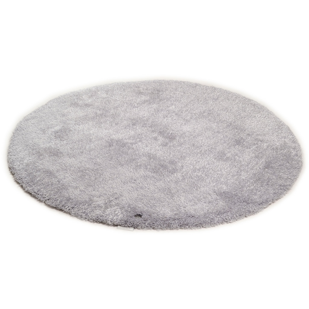 TOM TAILOR Hochflor-Teppich »Soft«, rund, 35 mm Höhe, super weich und flauschig, Wohnzimmer