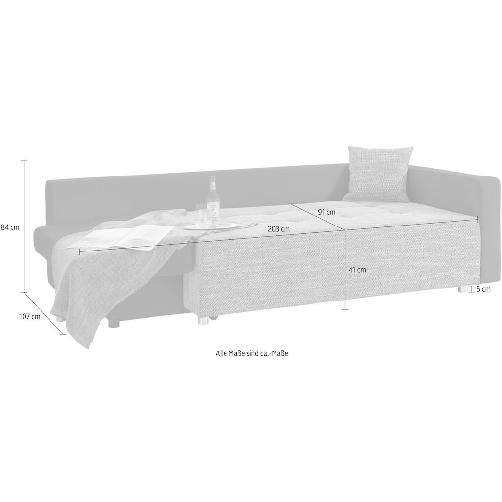 COLLECTION AB Schlafsofa, inklusive Bettfunktion und Bettkasten, frei im Raum stellbar