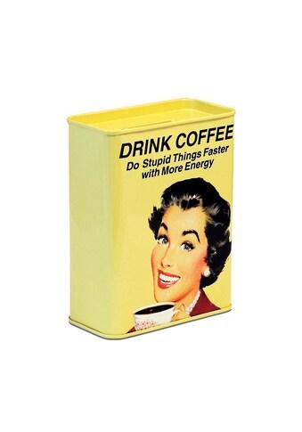 LOGOSHIRT Spardose mit lustigem Kaffee - Motiv kaufen