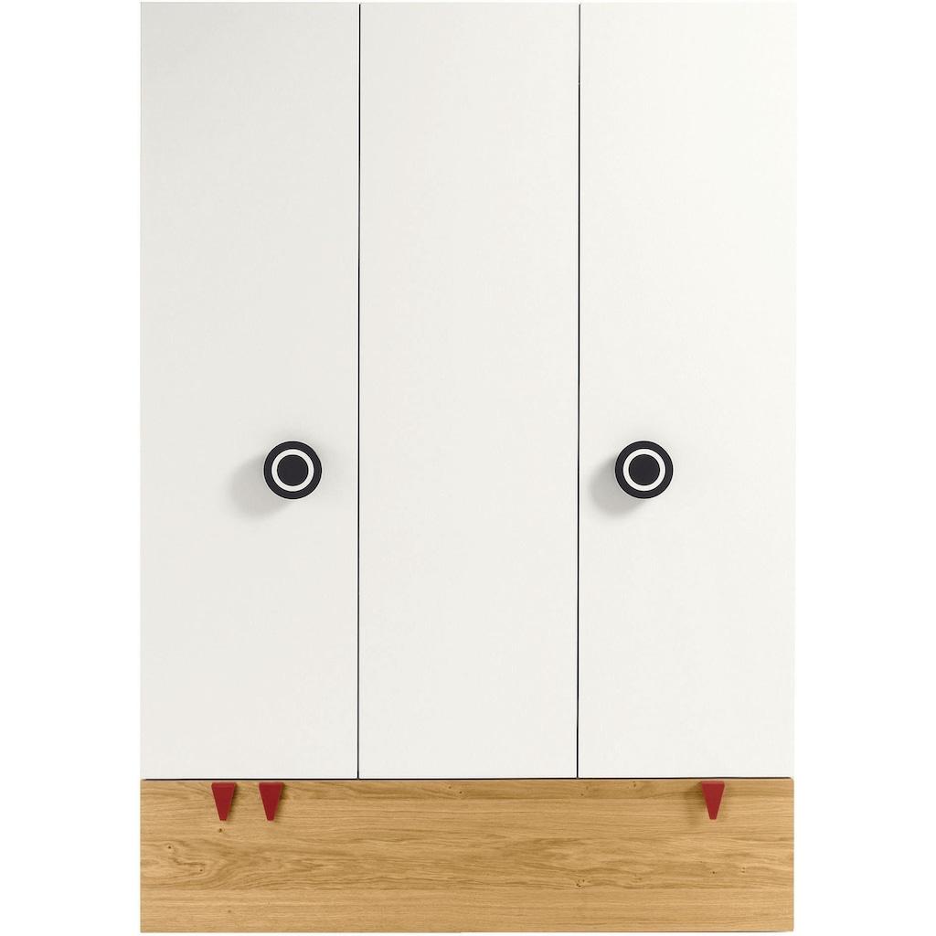 now! by hülsta Kleiderschrank »now! minimo«, mit schwarzen Augengriffen und Schublade, Breite 135 cm