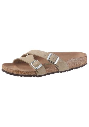 Birkenstock Pantolette »YAO«, mit ergonomisch geformtem Fußbett, Schuhweite: schmal kaufen