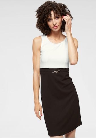 Aniston SELECTED Jerseykleid, mit goldfarbenen Accessoire kaufen