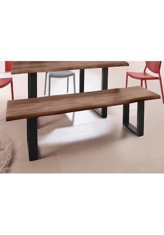 INOSIGN Sitzbank »Selina«, mit schönem Metallgestell und folierte Holzoptik auf der Sitzfläche kaufen