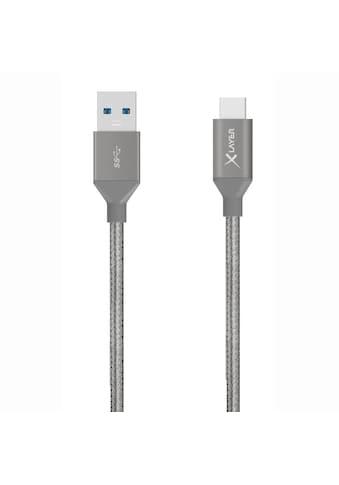XLAYER Kabel »PREMIUM USB 3.0 to Typ C (USB - C) Kabel Grey 1.20m« kaufen