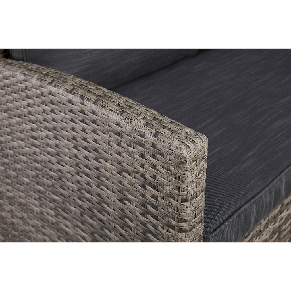 KONIFERA Loungeset »Rotterdam«, (20 tlg.), 3x Sofa, 2 Hocker, Tisch 12x82 cm, Polyrattan