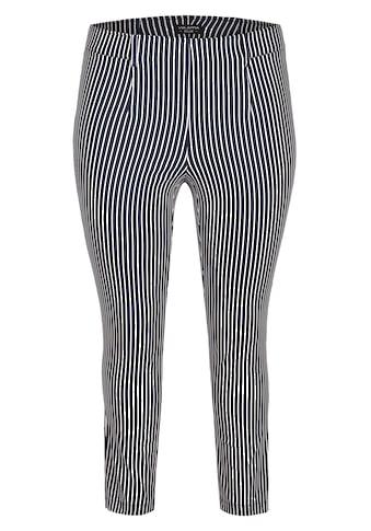 VIA APPIA DUE Modische Hose mit Streifenmuster Plus Size kaufen