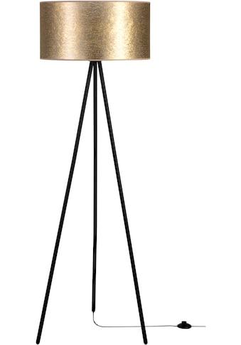 Leonique Stehlampe »DOROTHE«, E27, Hochwertiger Schirm aus Stoff, Basis aus Metall,... kaufen
