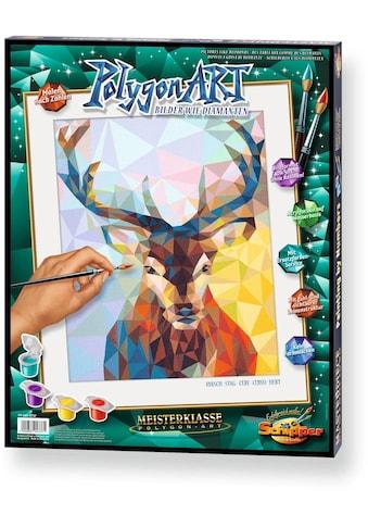 """Schipper Malen nach Zahlen """"Meisterklasse Premium  -  Polygon - Art Hirsch"""" kaufen"""