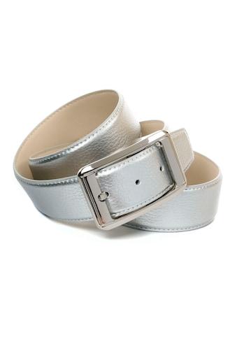 Anthoni Crown Ledergürtel, Jeansledergürtel in silberfarben kaufen