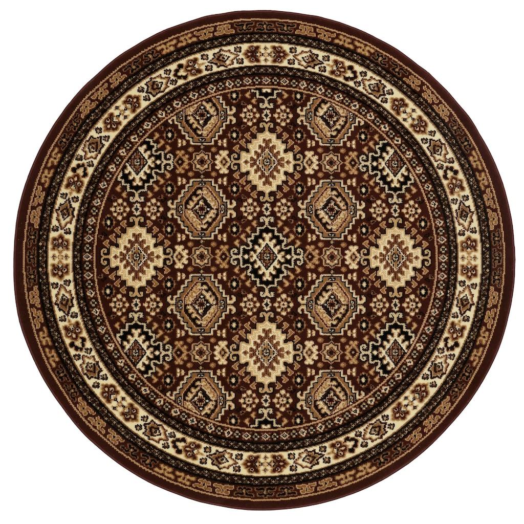 my home Teppich »Diantha«, rund, 9 mm Höhe, Orient - Dekor, Wohnzimmer
