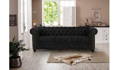 Premium collection by Home affaire 3-Sitzer »Rysum«, Chesterfield-Optik, in 2 Bezugsqualitäten kaufen