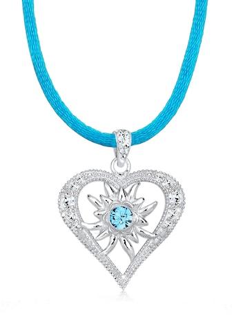 Elli Collierkettchen »Herz Edelweiss Kristalle 925 Silber« kaufen