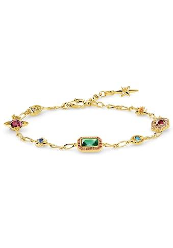 THOMAS SABO Armband »Glücksbringer gold, A1914-973-7-L19v«, mit synth. Korund und Glassteinen kaufen