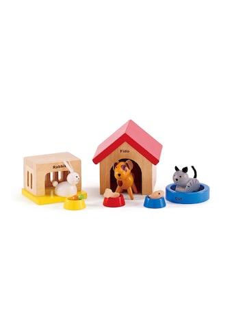 Hape Puppenhausmöbel »Haustiere aus Holz für Puppenhaus«, (Set, 12 tlg.) kaufen