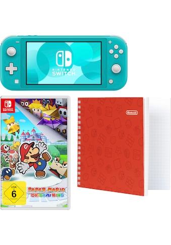 Nintendo Switch Konsole »Lite«, inkl. Paper Mario und Notizblock kaufen