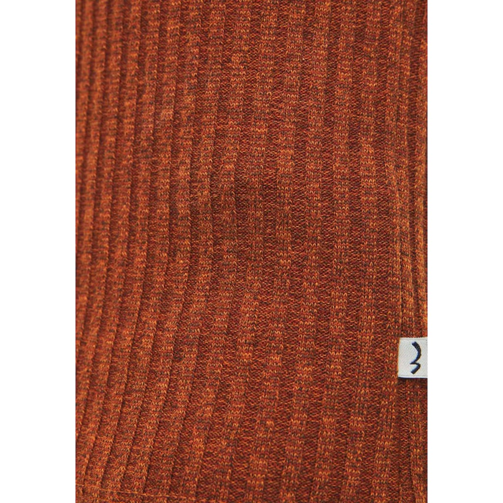 LTB Rundhalsshirt »CEWOME«, in schlichtem Ripp-Design