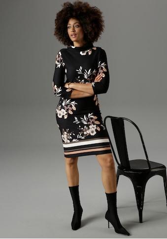 Aniston SELECTED Jerseykleid, mit weitem Stehkragen - NEUE KOLLEKTION kaufen