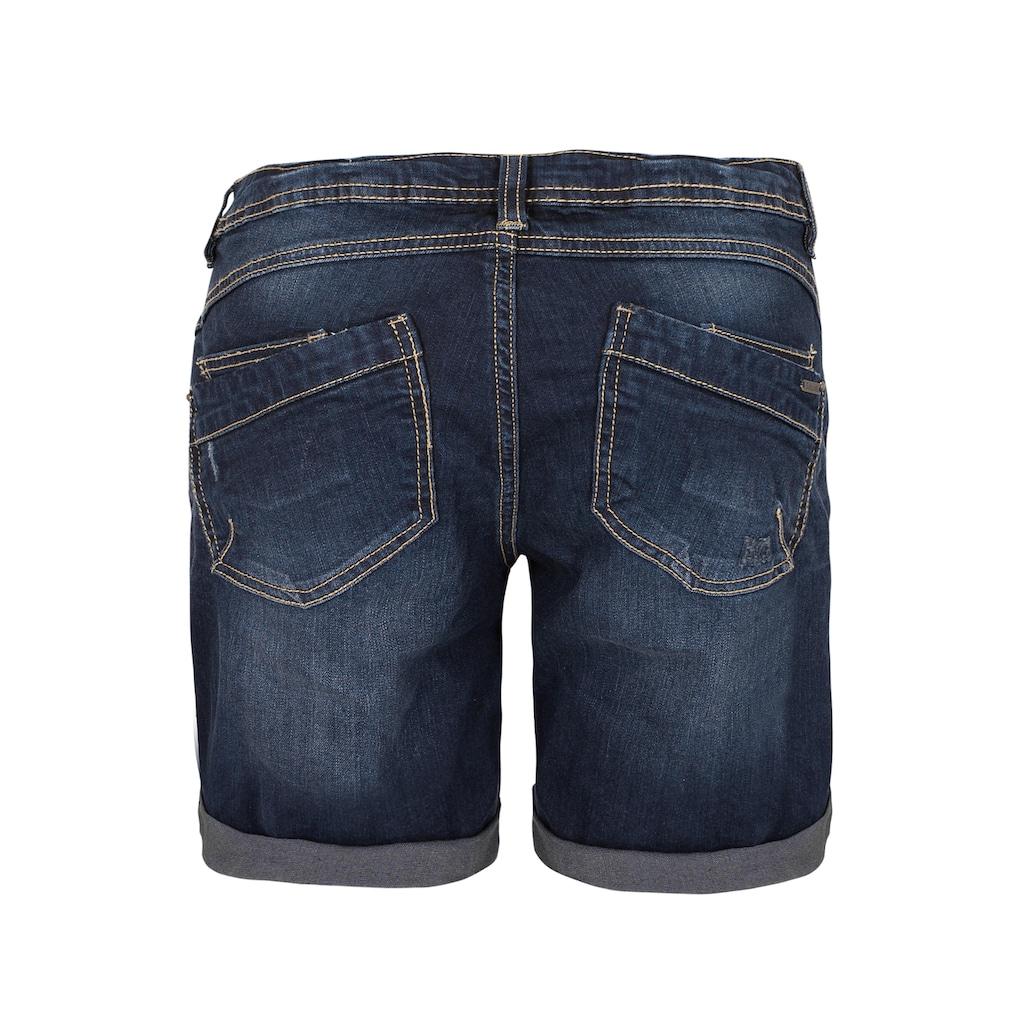 SUBLEVEL Jeansbermudas, mit Aufschlag