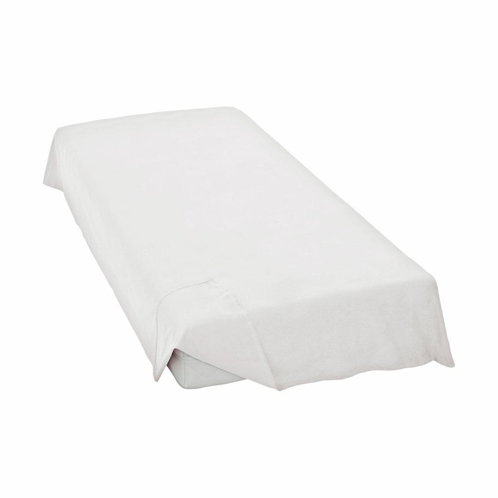 Schlafgut Bettlaken »Linon-Haustuch«, ohne Gummizug