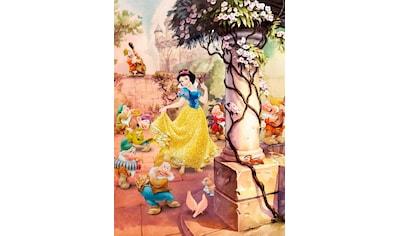 Komar Fototapete »Dancing Snow White«, bedruckt-Comic, ausgezeichnet lichtbeständig kaufen