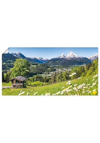 Artland Wandbild »Landschaft in den Bayerischen Alpen«, Berge, (1 St.), in vielen... kaufen